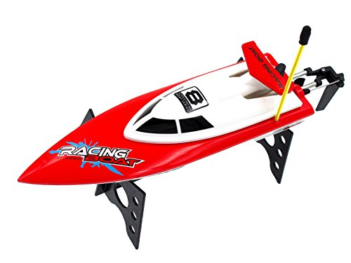 Auto-Flip RC Boat High Speed Racing Remote Control Boat On Water Pool Lake River, Red