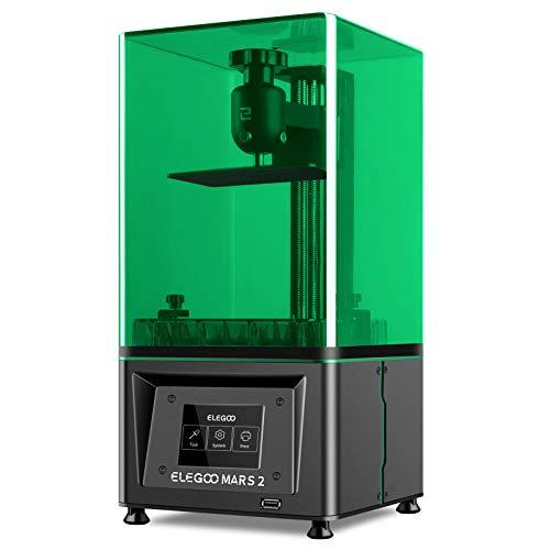 ELEGOO Mars 2 Imprimante 3D Ecran LCD/MSLA Monochrome 2K avec Source de Lumière LED UV pour Une Impression Hors Ligne de Taille 129*80*150mm