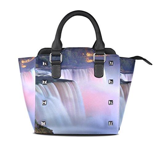 LIANCHENYI Borse a tracolla in pelle PU Grand Niagara Falls monospalla tote borsa a tracolla per le donne