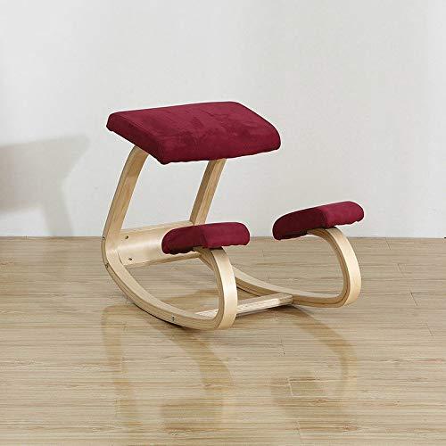 DWWSP Haus Dekoration Büroanschlussstuhl Buckelback Präventionsstühle Kind sitzen Haltung Korrekter Stuhl Taille Schutz Verbessern Sie die Wirbelsäule Rückenschmerzen (Color : Velvet red)