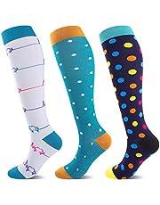 Medias de compresión para hombre y mujer, 20 – 30 mmHg, las mejores compresas coloridas ideales para deportes, viajes, vuelo, embarazo, enfermeras, cuidados médicos, correr, fitness.