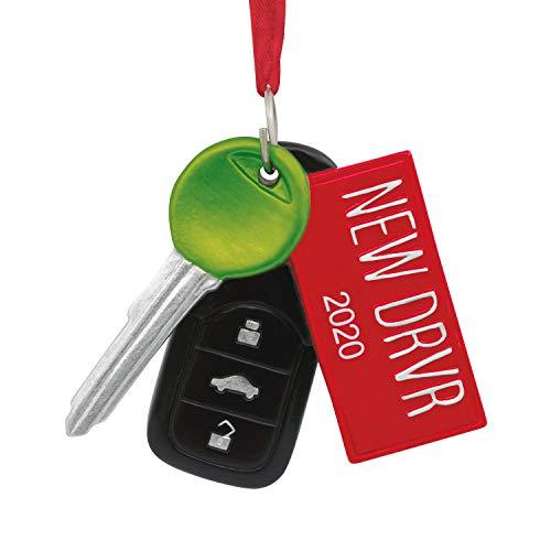 Hallmark New DRVR 2019 Driver License Plate Christmas Tree Ornament Car Key Remote