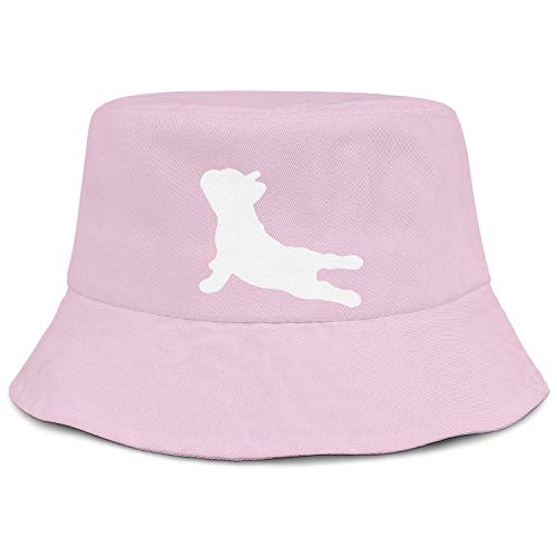 Unisex French Bulldog Yoga Cotton Wide Brim UV Protection Sun Hat Packable Beach Hat Summer Bucket Cap for Travel