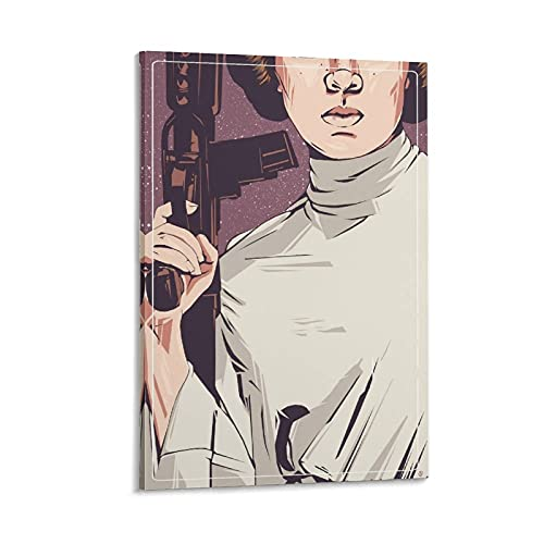 SHOYY Princess Leia Resistance Campaign Poster Poster Decorative Painting Canvas Wall Art Living Room Posters Bedroom Painting 08×12inch(20×30cm)