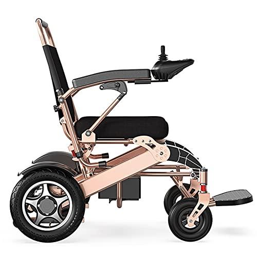 Silla de ruedas eléctrica, estructura de aleación de aluminio, silla de ruedas eléctrica portátil plegable y liviana, scooter compacto con asistencia móvil para ancianos y discapacitados/Como