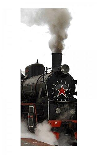 Türaufkleber Zug Dampflok Lokomotive Eisenbahn Tür Bild Türposter Türfolie Türtapete Poster Aufkleber 15A1052, Türgrösse:90cmx200cm