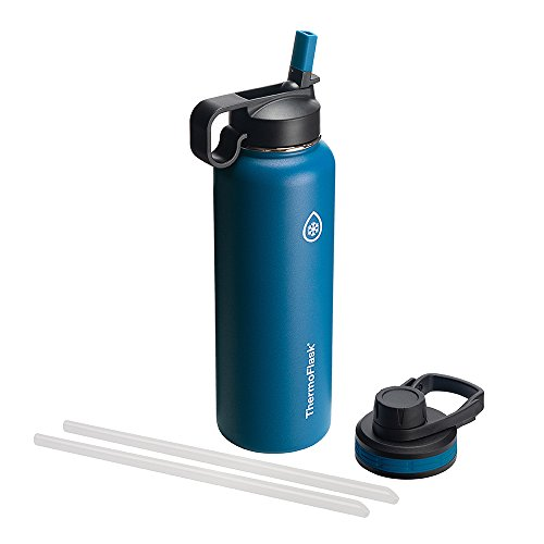 Thermoflask 50064 Double Stainless Steel Insulated Water Bottle, 40 oz, Cobalt