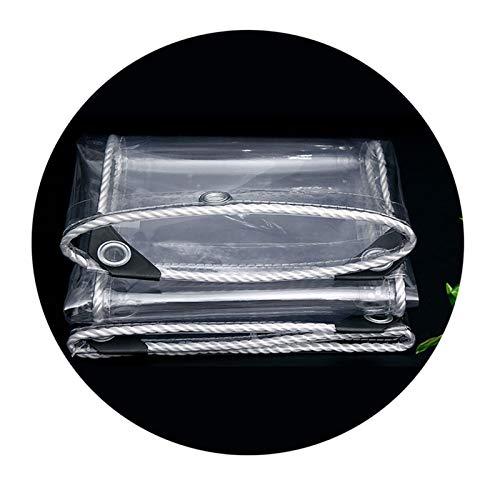 Lona Transparente Impermeable, Los 0.3MM PVC Tarea Pesada Claro Resistente Al Agua A Prueba De Polvo Anti-envejecimiento Lona, Cámping Jardinería Pescar Toldo De Aislamiento(5 * 5m(16.4 * 16.4ft))