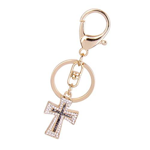 Kristall Christliches Kreuz Charme Schlüssel
