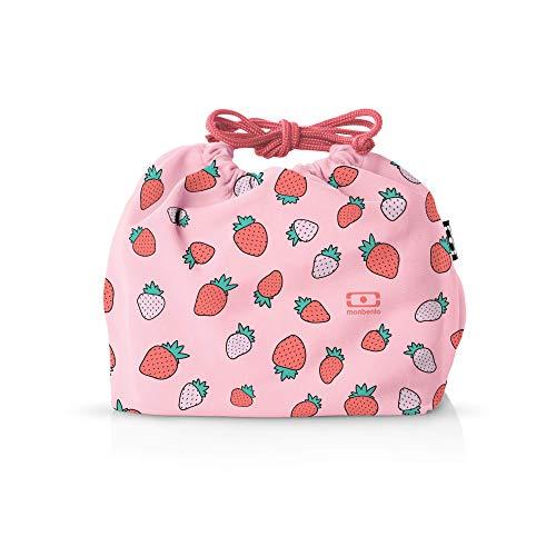 monbento - MB Pochette Lunch Tasche - Polyester Bento Tasche - Geeignet für MB Original MB Square & MB Tresor Bento-Boxen (M, Graphic Strawberry)