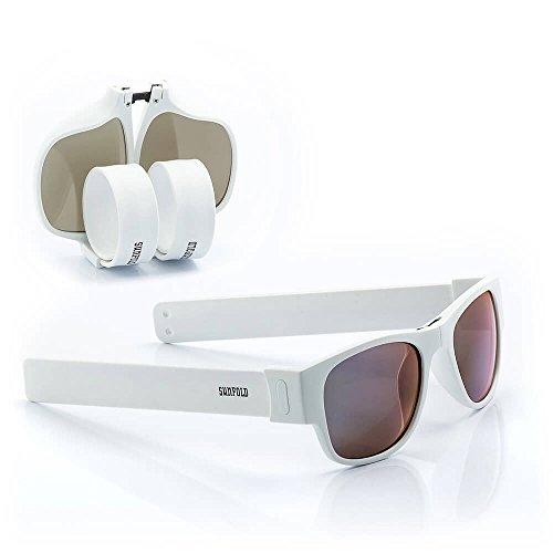 Sunfold Eternal Sunshine Gafas de Sol Enrollables, Hombre, Blanco, Talla Única