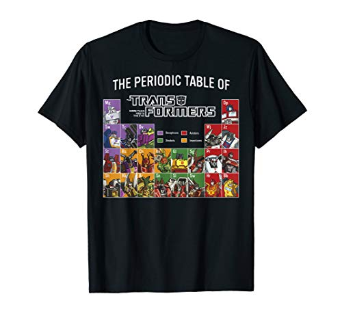 Transformers The Periodic Table Of Transformers T-Shirt