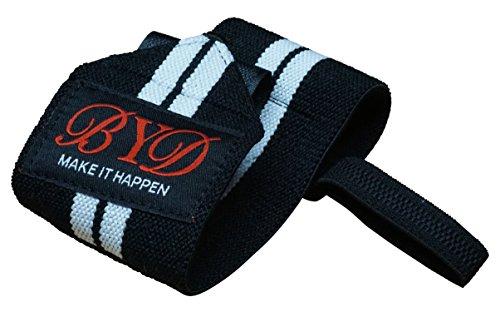 Beyond Dreams® Bandagen (weiße Streifen) - Handgelenkbandagen Fitness - Handgelenk-stütze - Schoner - Bodybuilding Crossfit Turnen Krafttraining - waschbar - Premiumqualität