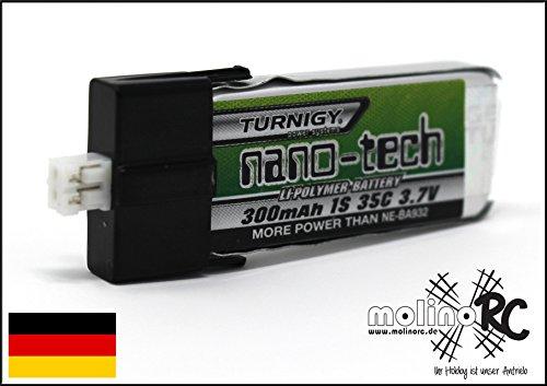 Turnigy nano-tech 300mAh Lipo Akku 1S 35C Blade mCPX / FBL100 EFLB2001S25