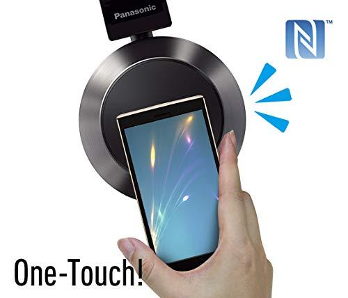 Panasonic RP-BTD10E-K Bluetooth Kopfhörer (Headset, Frequenzgang 9-24.000 Hz, NFC, Tasten an Ohrmuscheln, bis 30 h lange Batterielebensdauer, drehbare Ohrmuscheln) schwarz