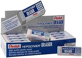 Pentel Hi-Polymer Block Eraser, Large White 36 pack (ZEH-10)