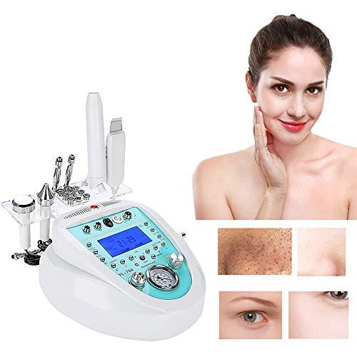 Machine professionnelle de microdermabrasion de diamant, machine faciale à la maison avancée de traitement du visage + épurateur de peau + électro-thérapeutique à haute fréquence (Blanc)