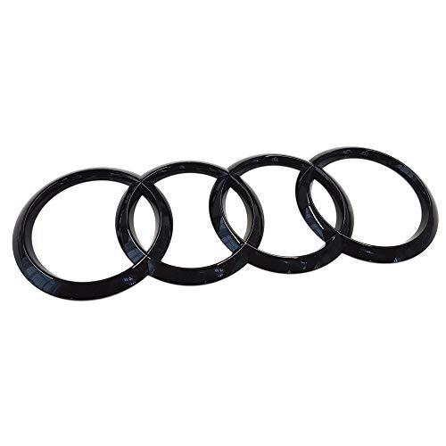 Audi 8V4853742AT94 Ringe EmblemLogo Aufkleber Black Edition, schwarz glänzend, nur für A3 (8V) Sportback