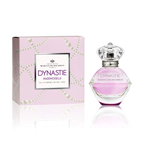 Dynastie Mademoiselle by Princesse Marina de Bourbon | Eau de Parfum Spray | Fragrance for Women | Floral and Fruity Scent with Notes of Mandarin, Lotus, and Musk | 50 mL / 1.7 fl oz