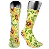 Golden Sunflower Calcetines de compresión para mujeres y hombres, lo mejor para correr, viajes de vuelo, embarazadas