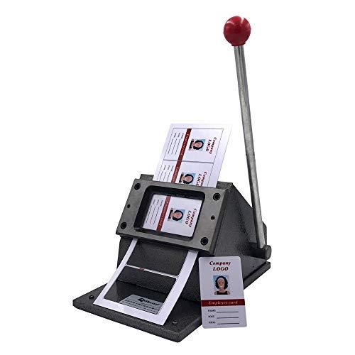 HJJH Multi Blätter Stapel Papiere Graphic Stanzmatrize Cutter, Spezialhandbuch Rechteck-Grafikschlags-Stanze für Magnet-Knopf Schneiden von Papier Foto und PVC-Material