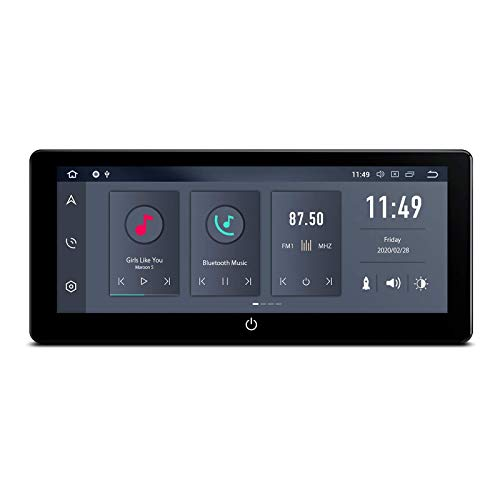 KAUTO Android 10 Car Stereo Bluetooth 5.0 Doble DIN Radio 10.25 Pulgadas Pantalla IPS 4GB RAM 64GB ROM Reproductor de navegación GPS Soporte Salida HDMI WiFi 4K Video MirrorLink Universal