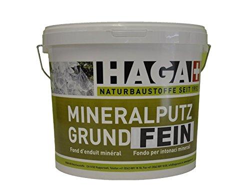 HAGA MineralputzgrundFEIN für Innen & Außen, 5kg - Grundanstrich für Kalkfarbe, Streich- und Rollputze