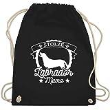 Hunde - Stolze Labrador Mama - Unisize - Schwarz - labrador - WM110 - Turnbeutel und Stoffbeutel aus Bio-Baumwolle