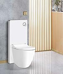 Witte glazen sanitaire module voor stand-WC incl. bedieningsplaat*