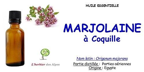"""Huile essentielle de Marjolaine à coquilles (10 ml) .""""Origanum majorana"""""""