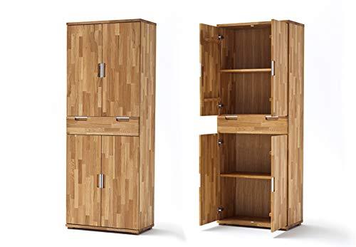 Möbel Akut Büroschrank Büro Home Office Schrank Aktenschrank Zendo Asteiche Massivholz geölt 4-türig