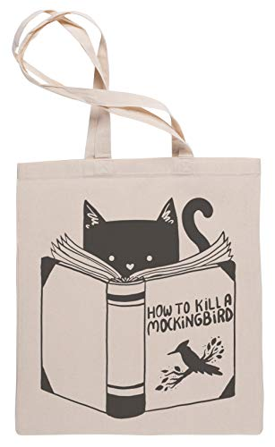 Wigoro How to Kill a Mockingbird - Cute Cat Sac à Provisions Tote Beige Shopping Bag