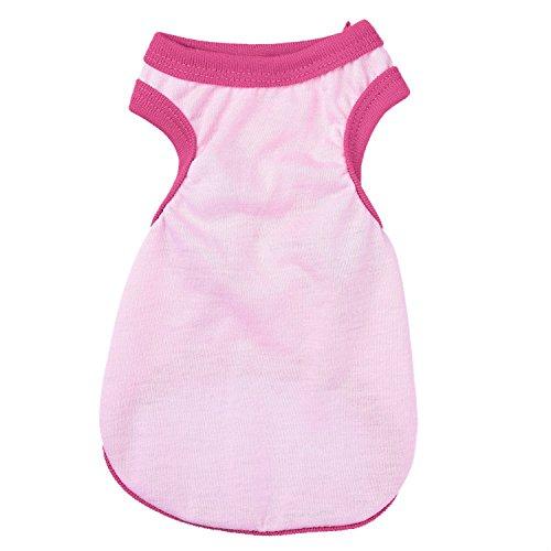 Gilet pour petit chien chat Pure Color Pet Puppy T-shirt Manteau pour chien Vêtements d'été Apparel Costumes