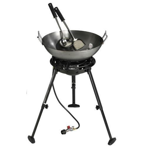 Eastman Outdoors 37212 Outdoor Gourmet 22 Inch Carbon Steel Wok Kit