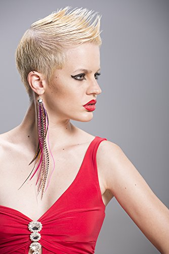 Grizzly-Extensions Pink Style Boucles d'oreilles extravagantes