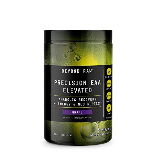 Beyond Raw Precision EAA Elevated - Grape, 24 Servings, Anabolic Recovery for Muscles