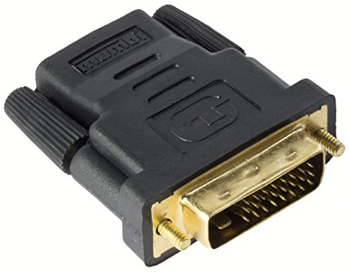 Mumbi HDMI naar DVI-adapter - verguld + gecertificeerd - DVI-D stekker (24+1) naar HDMI bus (19pol) Adapter / Full HD 1080p