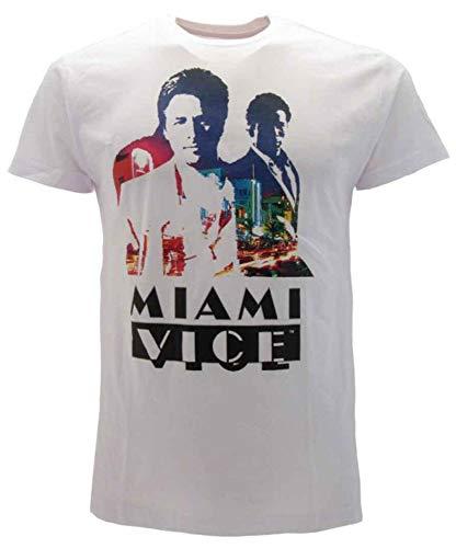 Sabor SRL T-Shirt Miami Vice Originale Film Maglia Maglietta Ufficiale Serie Cult Anni 80 (XL)