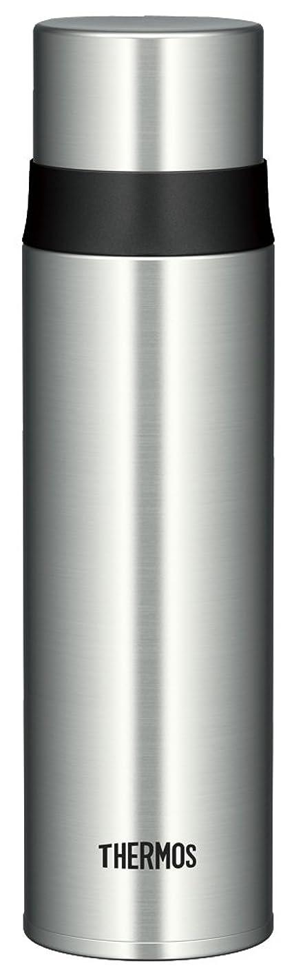 すり減るおとなしい食用サーモス 水筒 ステンレススリムボトル 500ml ステンレスブラック FFM-500 SBK