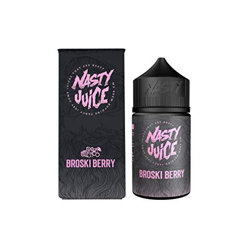 Nasty Juice Berry Series e Liquid Vape Sabores múltiples, 50ML 0MG 70VG 30PG - Sin nicotina (Broski Berry)