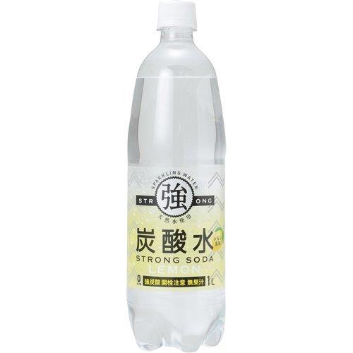 友桝飲料 強炭酸水 レモン ペット 1L×15本