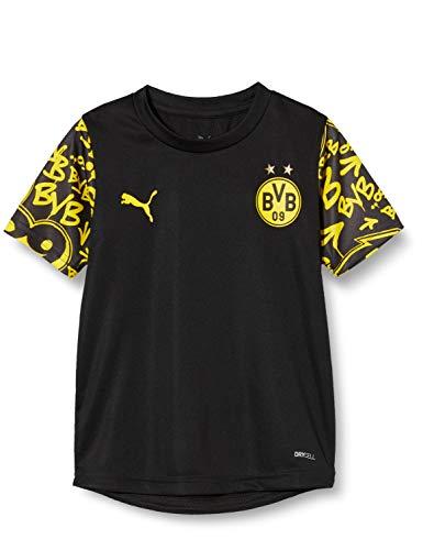 PUMA BVB Stadium Jersey Jr T-Shirt, Black-Cyber Yellow-Away, 152