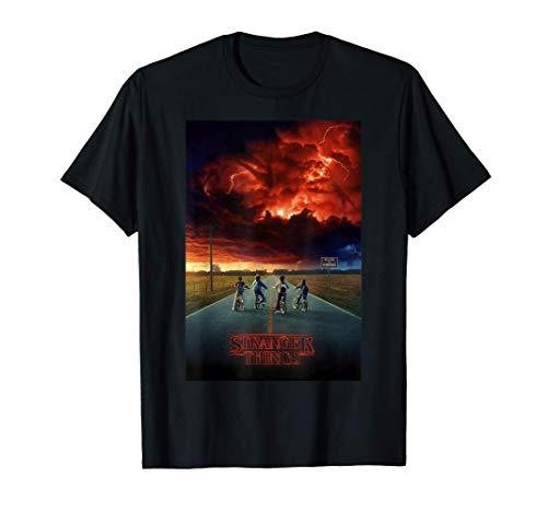 Stranger Things Demogorgon Cloud Poster Camiseta