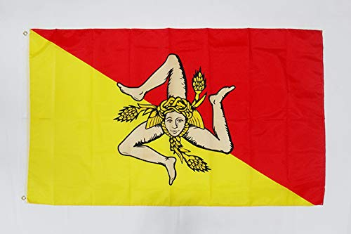 AZ FLAG Flagge SIZILIEN 150x90cm - SIZILIEN Fahne 90 x 150 cm feiner Polyester - flaggen