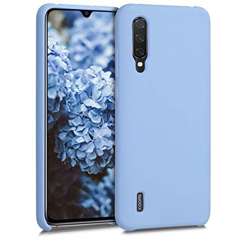 kwmobile Funda Compatible con Xiaomi Mi 9 Lite - Carcasa de TPU para móvil - Cover Trasero en Azul Claro Mate