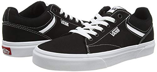 Vans Seldan, Sneaker Donna, Nero ((Canvas) Black/White 187), 37 EU