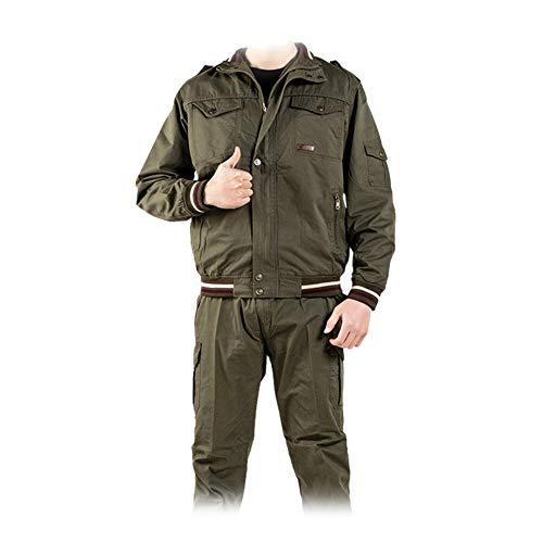 YJKJ Chaqueta de soldadura, chaqueta de seguridad, algodón puro, absorbe la humedad, L