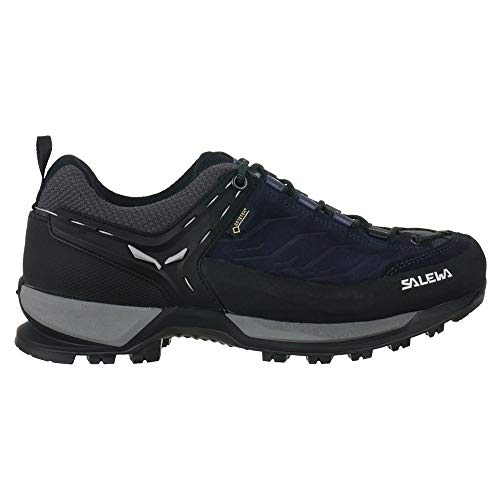 Salewa Zapatillas de montaña GTX para hombre, senderismo, trekking, color negro y plateado