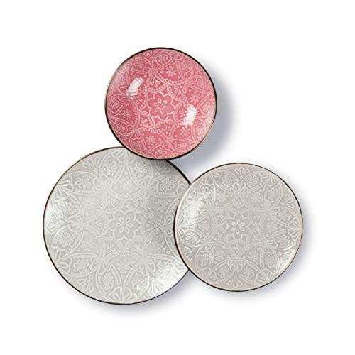 Excelsa - 63544 - Vajilla de 18 piezas Versailles gris