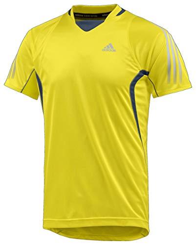 adidas Mittennium - Camiseta de manga corta, color amarillo amarillo X-Small